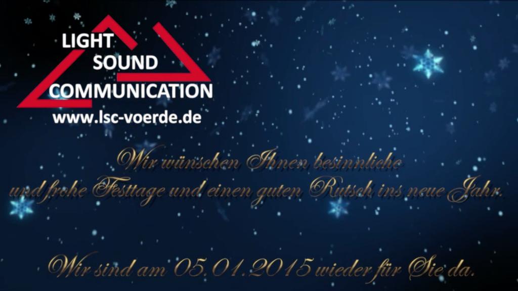 Light Sound Communication e.K. » Wir wünschen Ihnen frohe Weihnachten